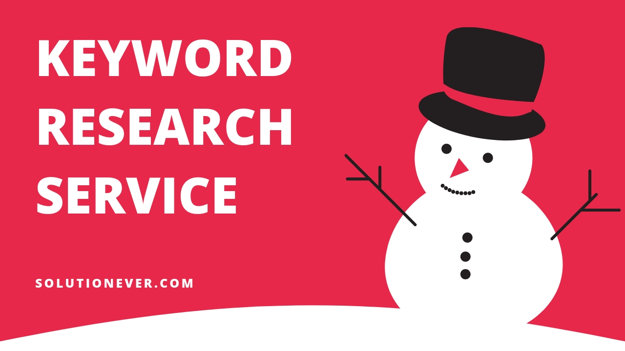 Keyword Research service by solutionever