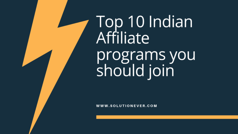 Indian Affiliate Programs
